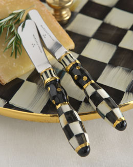 MacKenzie-Childs Courtly Check Canape Knives