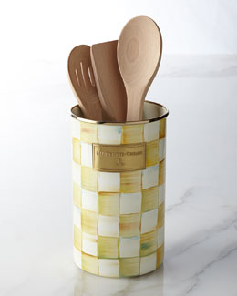 Parchment Check Utensil Holder