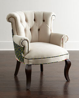 Cream Peacock Chair