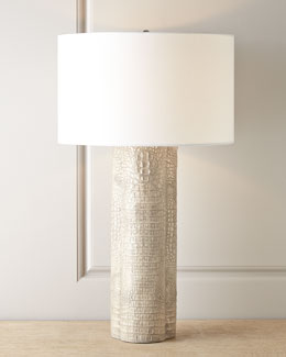 Ramses Crocodile-Print Lamp