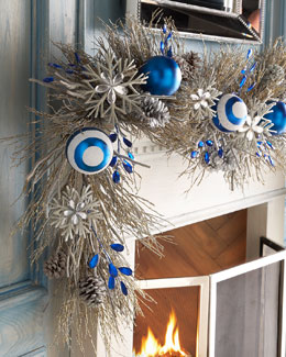 Blue 6' Christmas Garland