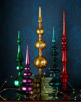 Colored Glass Finials