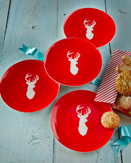 CREATIVE HOME LLC Four Stag Dessert Plates