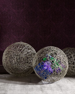 Three Champagne Wire Balls