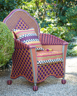 MacKenzie-Childs Sunset Outdoor Wing Chair