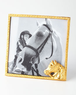 Golden Horse Head Frame