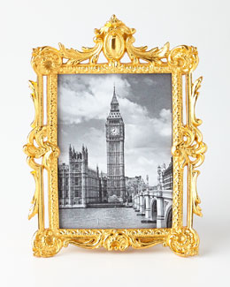 Golden Ornate Rectangular Frame