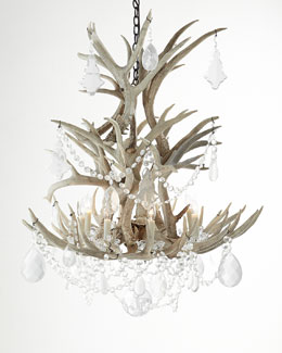 Ralph Lauren Stag Eight-Light Chandelier