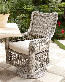 Madison Bay Outdoor Swivel Armchair