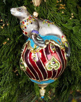 Jay Strongwater Seal Christmas Ornament