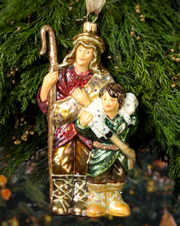 Jay Strongwater Shepherd Christmas Ornament