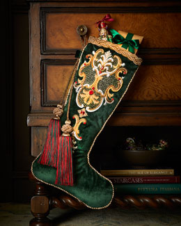 Jay Strongwater Palazza Christmas Stocking