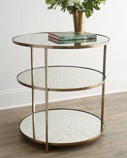 Arteriors Whitney Mirrored Side Table