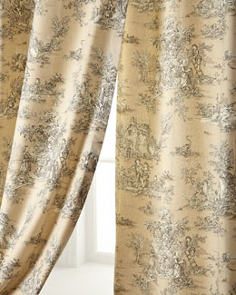 "Legacy Home Two 96""L Pastorale Toile Curtains"