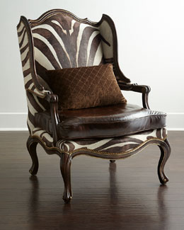 Massoud Zena Zebra-Print Chair