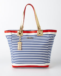 Resort White Cabana Tote