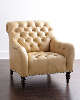 Brady Tufted Leather Chair