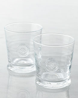Juliska Two Berry & Thread Double Old-Fashioned Glasses