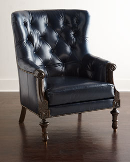 Massoud Adrian Leather Chair