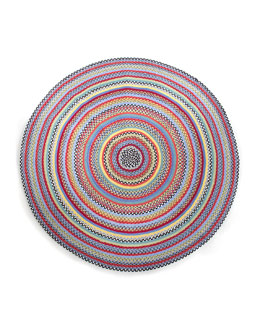 MacKenzie-Childs Braided Crayon Rug, 6' Round