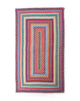 MacKenzie-Childs Crayon Braided Rug, 3' x 5'