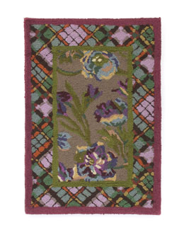 MacKenzie-Childs Plaid Bouquet Rug, 2' x 3'