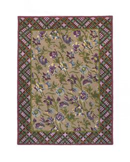 MacKenzie-Childs Plaid Bouquet Rug,  8' x 10'