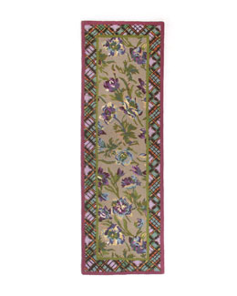 "MacKenzie-Childs Plaid Bouquet Runner, 2'6"" x 8'"