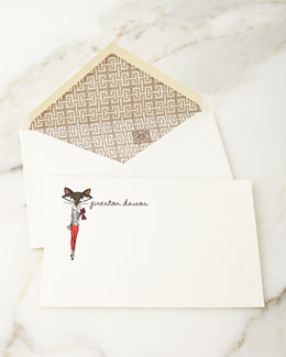 iomoi Lady Fox Personalized Notecards