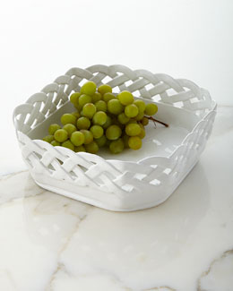 Basketweave Square Bowl