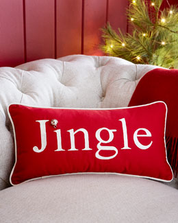 Embroidered Jingle Pillow