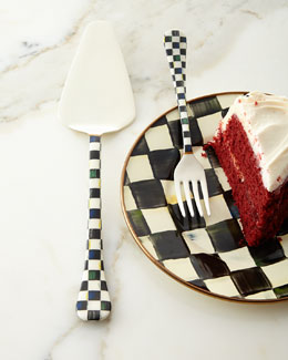 MacKenzie-Childs Courtly Check Cake Server