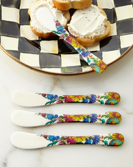MacKenzie-Childs Flower Market Canape Knives, Set of 4