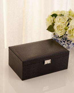 Black Leather Jewelry Case