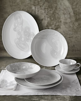 5-Piece Grey Malachite Dinnerware Place Setting