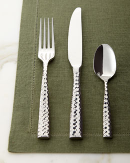 20-Piece Lucca Faceted Flatware Service