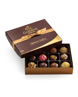 Godiva Signature Truffles, 12 Pieces
