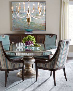 John-Richard Collection Despina Dining Chair & Lisandra Dining Table