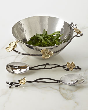 Michael Aram Gold Orchid Bowl & Servers