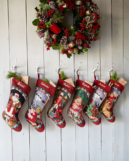 SFERRA Needlepoint Christmas Stockings