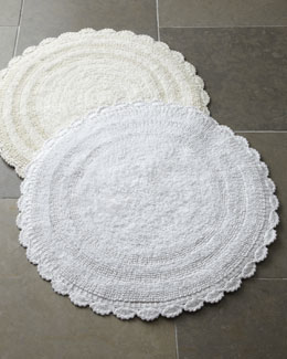 Cobra Trading Crochet Border Bath Rugs