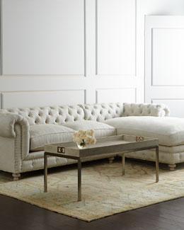 Warner Linen Sectional Sofa