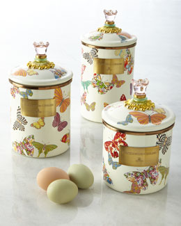 Butterfly Garden Canisters