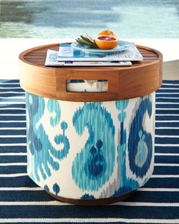 Katharine Webster Gaea Round Pouf Collection