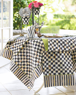 MacKenzie-Childs Courtly Check & Courtly Stripe Table Linens
