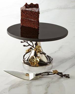 Michael Aram Gold Orchid Cake Stand & Server