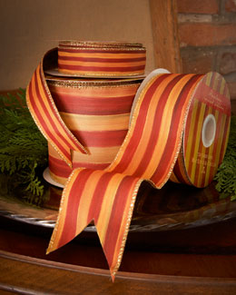 MacKenzie-Childs Heirloom Stripe Ribbon