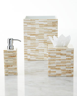 Gail Deloach Stone Tile Mosaic Vanity Accessories