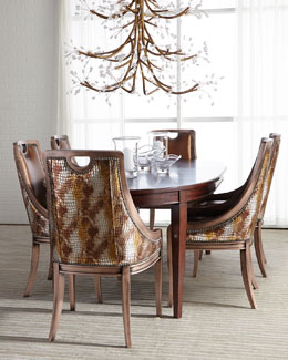 Old Hickory Tannery Arcady Dining Chair & Allerton Dining Table