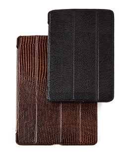 The Case Factory Lizard-Embossed Leather iPad Cases